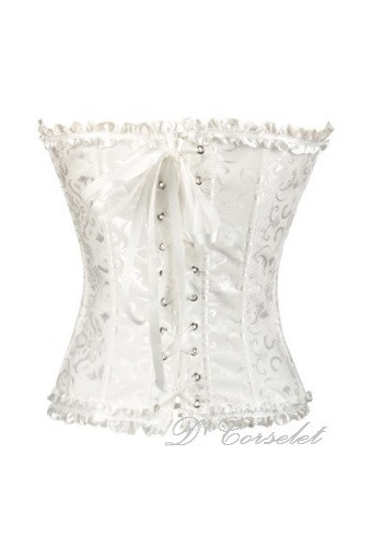 15349e0eb00 F1069-4 White Ribbon Brocade