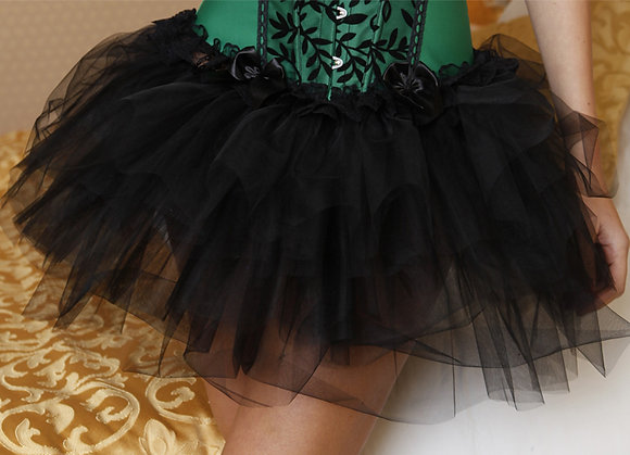 A1-A Black Sheer Tutu (no skirting)