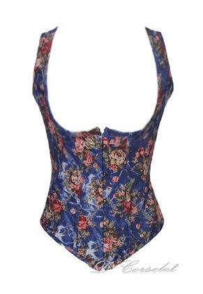 F1413-2 Blue Floral Vest