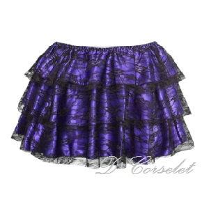 F7206 Purple Lace Skirt