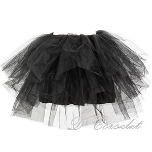 A2-A Black Sheer Tutu (with skirting)