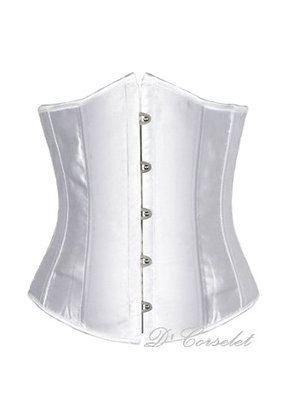 F1661 Plain White Satin Underbust