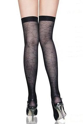 ST2081 Black Web-Print Stockings