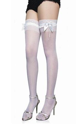 ST2101 White Bridal Sheer Stockings