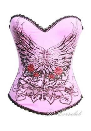 F1504 Pink Love Soul Wings Corset