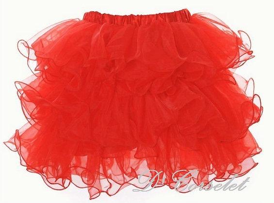 A3-C Red Ruffled Tutu