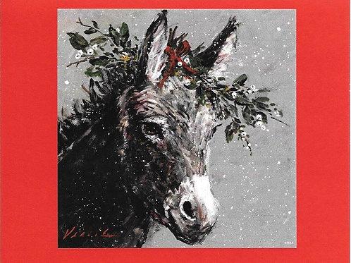 Christmas Donkey Card Pack (8)