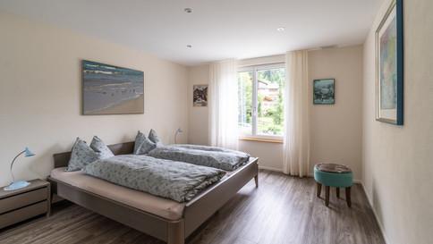 Schlafzimmer Ost mit Doppelbett