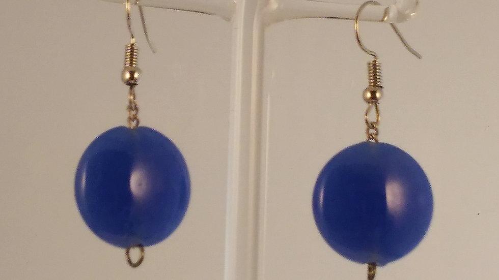 Boucles Cristal pressé bleu