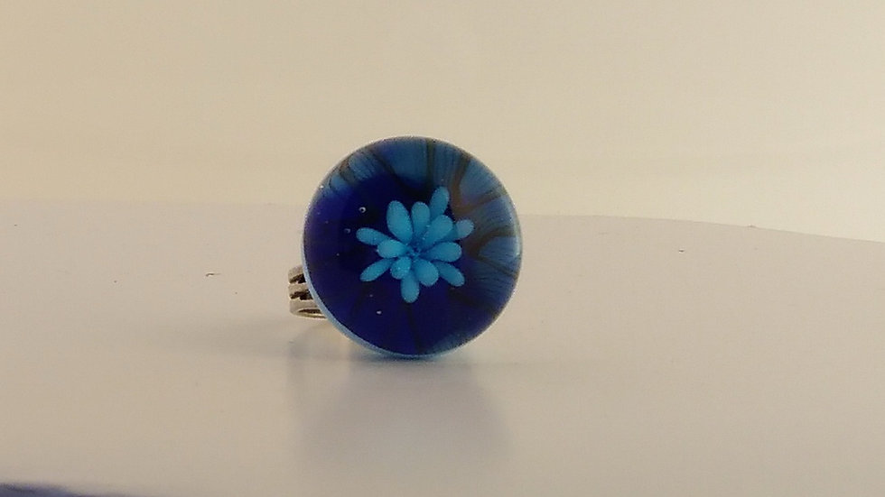 Bleutée florale