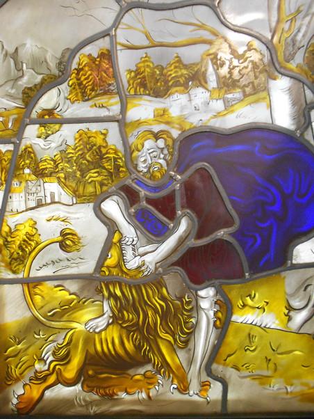 Samson terrassant le lion