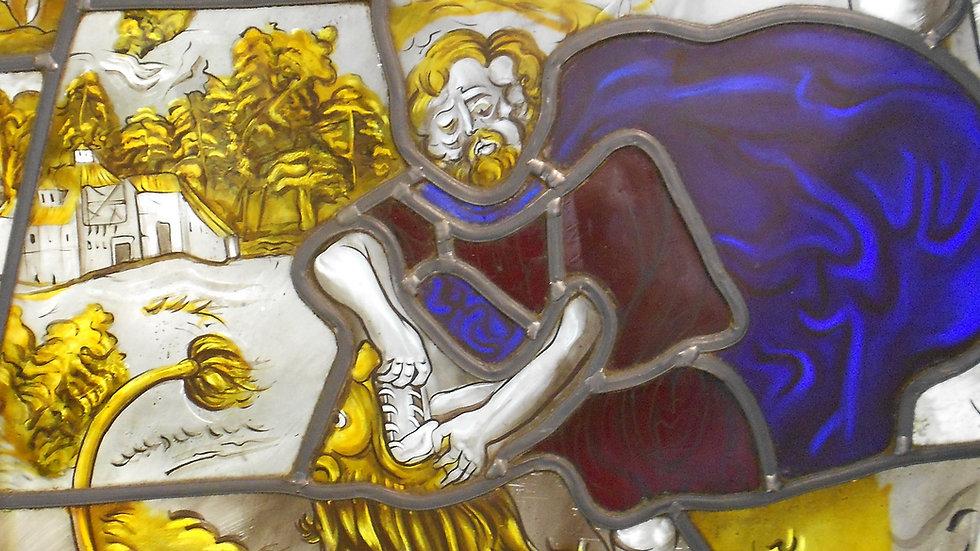 """Reproduction XVIème """"Samson et le lion"""""""