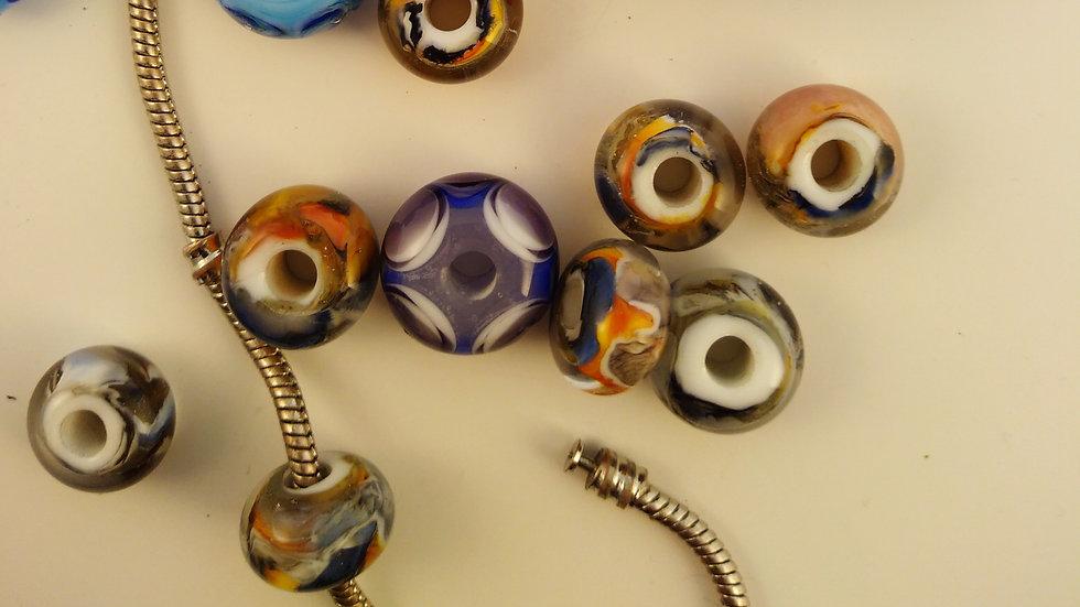 Perles pour bracelet (toutes marques, le prix est à la pièce)