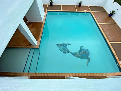 Custom Pool Mosaic Design