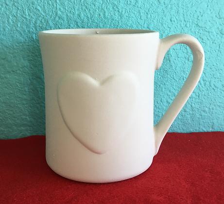 Heart On Front Mug