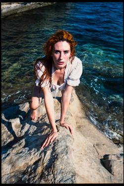 Madeleine Baldacchino at the beach