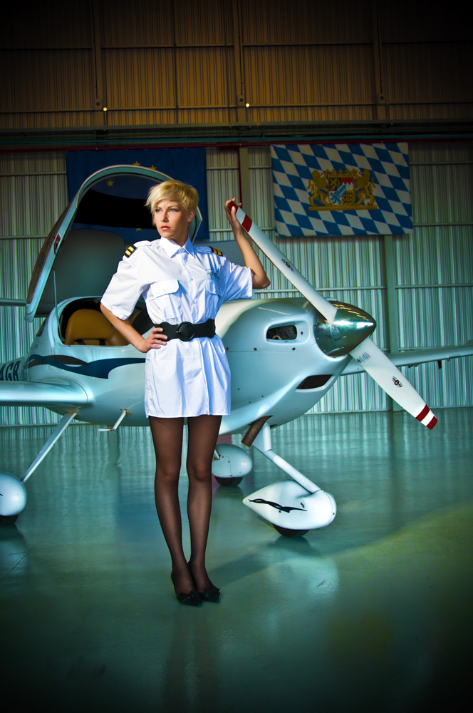 Aviation fashion shoot Vida Magazine