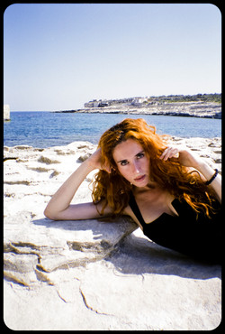 Madeleine at the beach