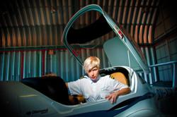 Aviation fashion shoot Vida Magazine