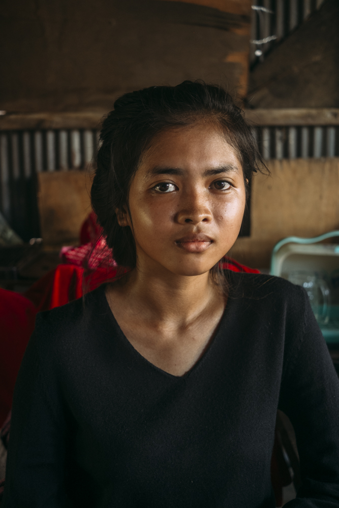 Child from the slums of Phnom Penh