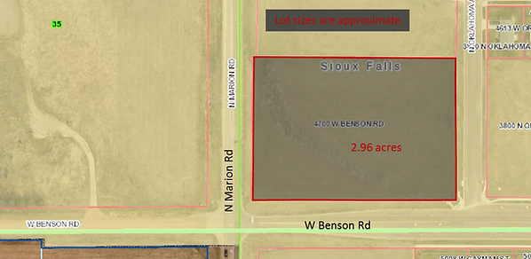 2.96 acre commercial lot, Sioux Falls, SD