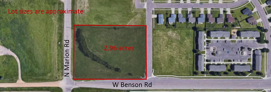Map to Commercial lot, Green HIlls Addition, Sioux Falls, SD