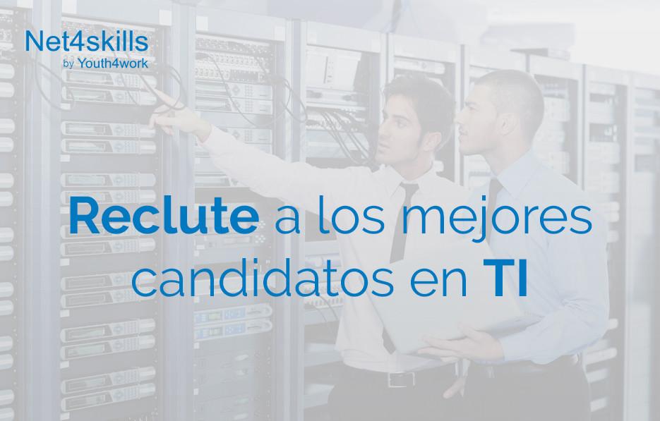 Reclute a los mejores candidatos en TI
