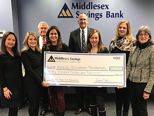 Wellesley Education Foundation (WEF) Receives $50,000 from Middlesex Savings Bank