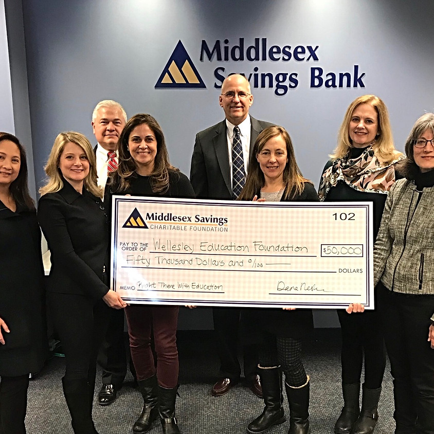 Middlesex Savings Bank Gifts $50K To WEF