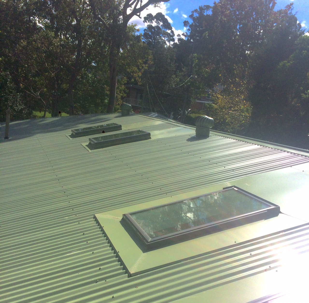 Tile to Metal Re-roof inc. Skylight