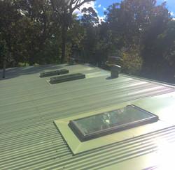 Tile to Metal Re-roof inc. Skylight