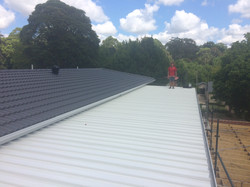 Low pitch metal roof