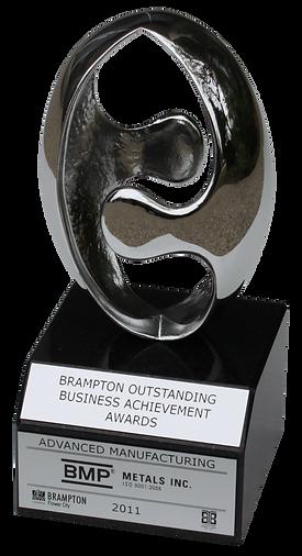 BMP Metals wins 2011 Brampton Outstanding Business Achievement Award