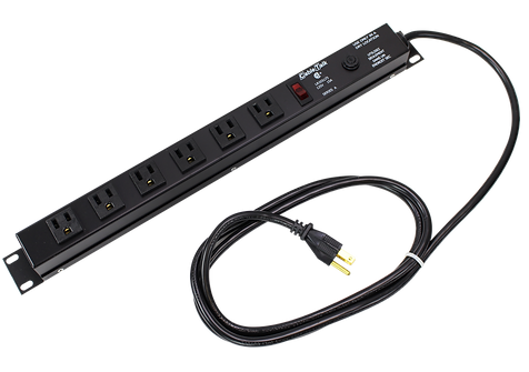 Six outlet power bar