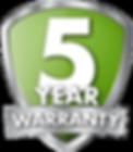 5-year warranty guarantee