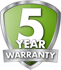 5-year warranty guarantee