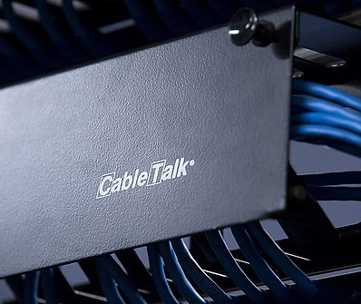 A CableTalk horizontal cable management system
