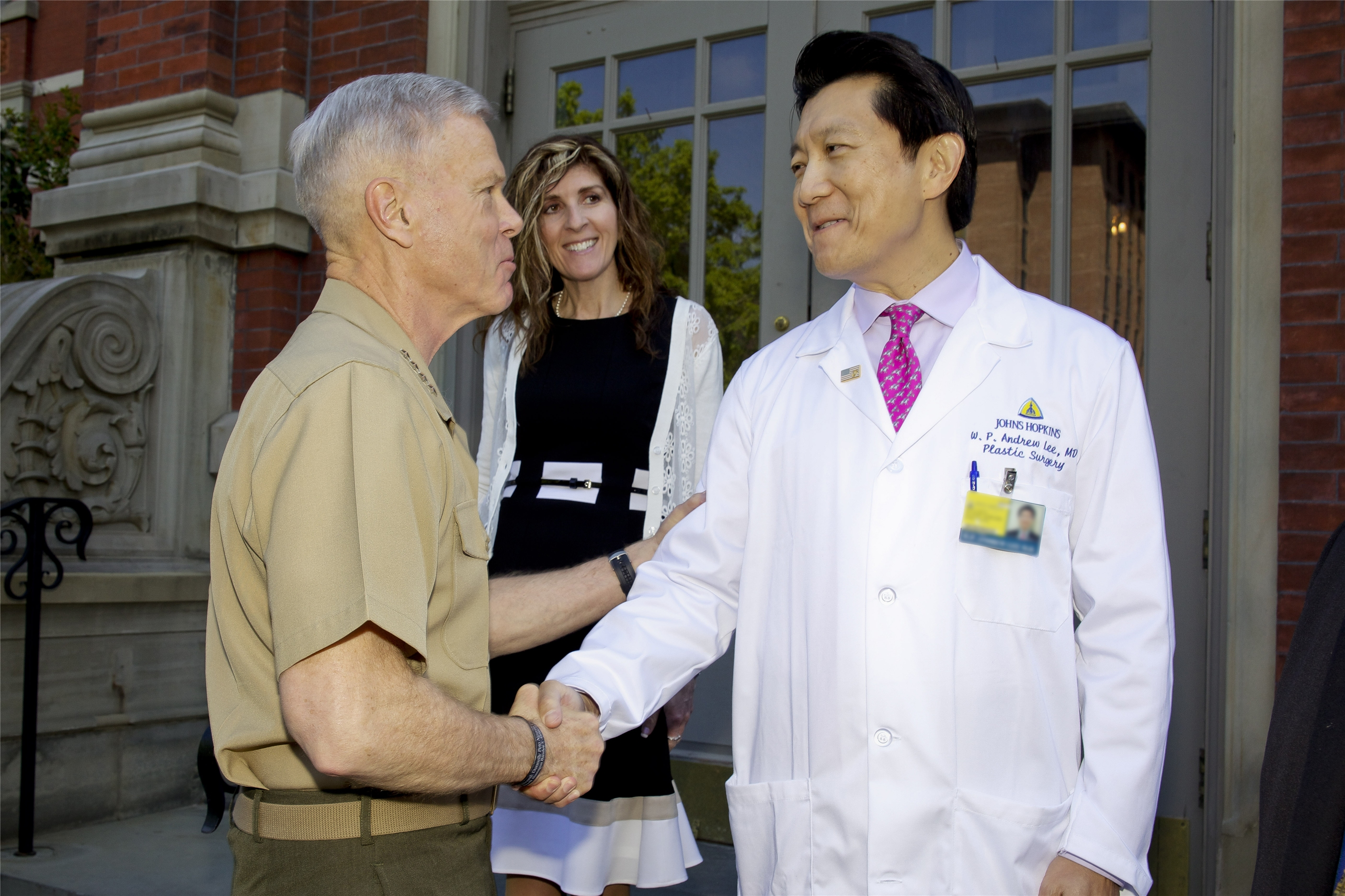 Dr WP Andrew Lee and General Amos