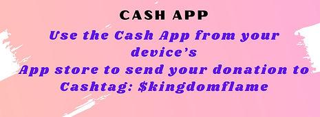 giving to kingdom flame ministries cashapp
