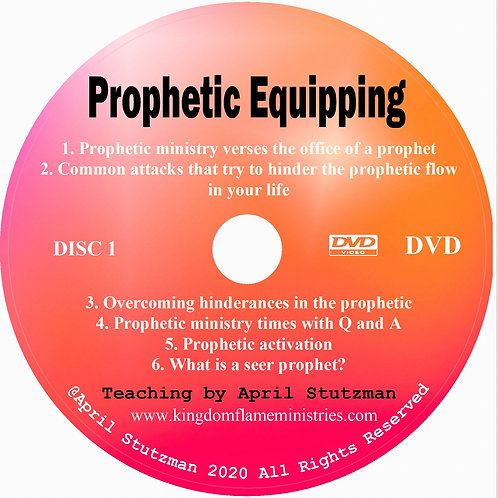 prophetic equipping by april Stutzman dvd