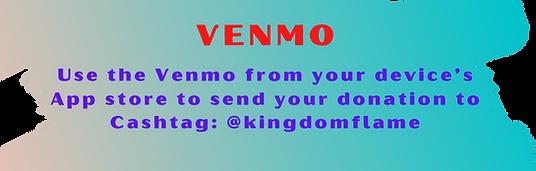 giving to kingdom flame ministries venmo