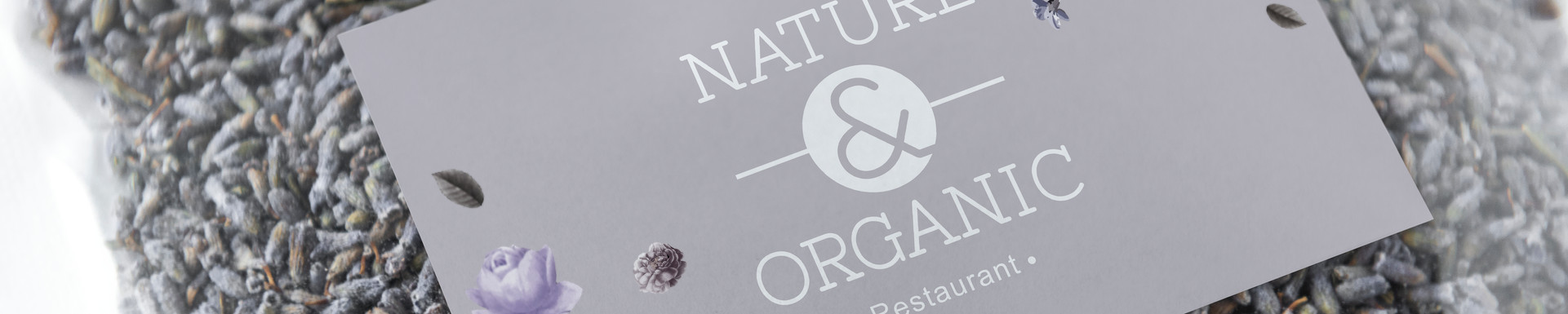 Organic lavender graphic design