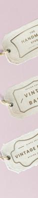 Vintage tag design