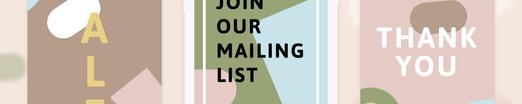Mailing list graphic design
