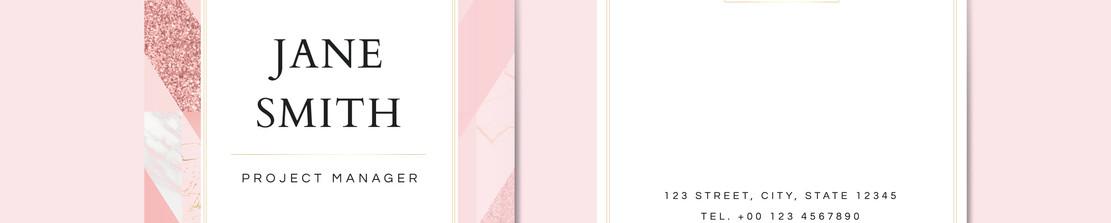 Feminine business card design