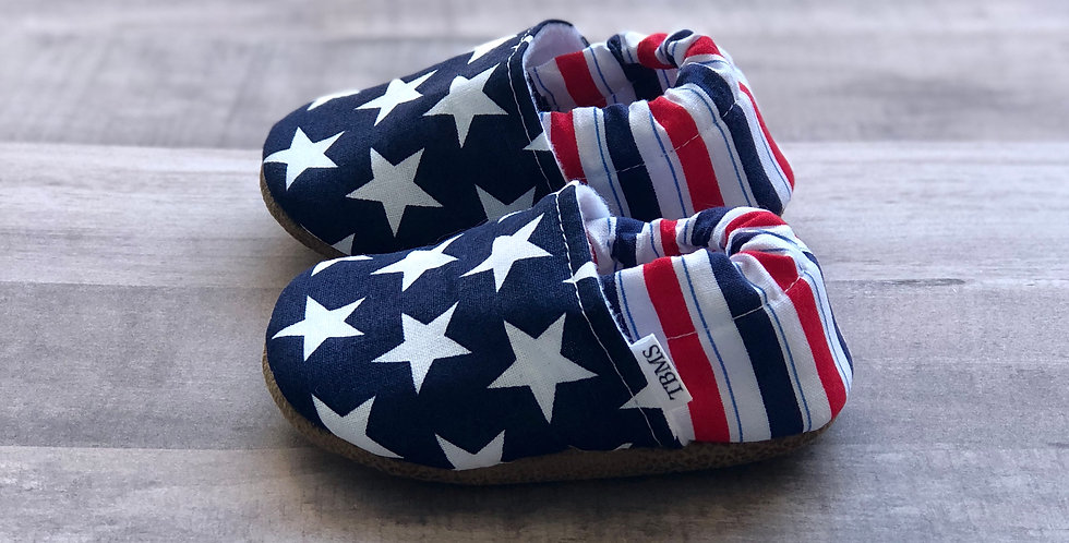 Classic Stars and Stripes Moccasins