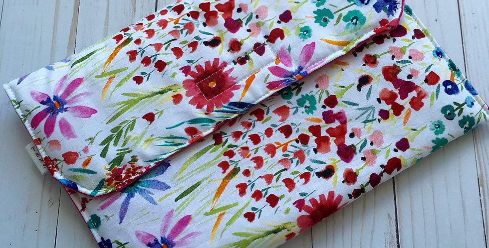 Summer Flowers Diaper Clutch