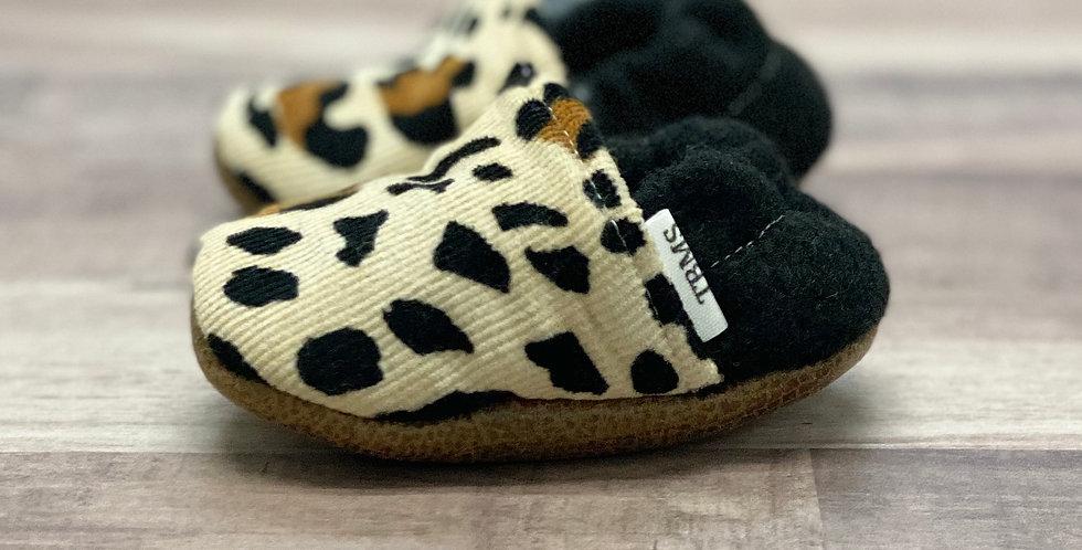 Corduroy Leopard Moccasins
