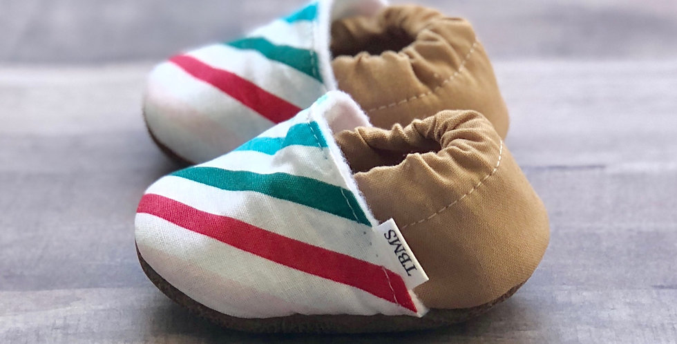Rainbow Striped Moccasins