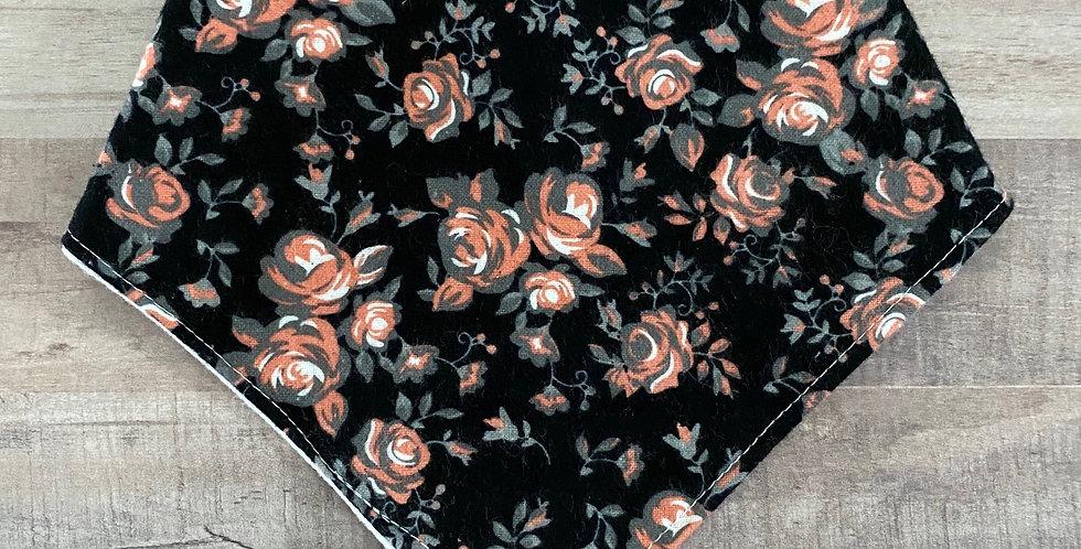Black Floral Bibdana